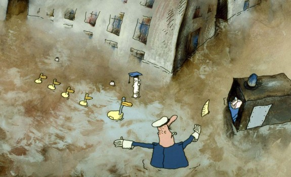 Water PeopleDucks Policeman © Paul Driessen / Nico Crama Films / Netherlands Institute for Animation Film